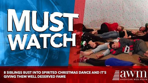 8 Siblings Bust Into Spirited Christmas Dance And It's Giving Them Well Deserved Fame