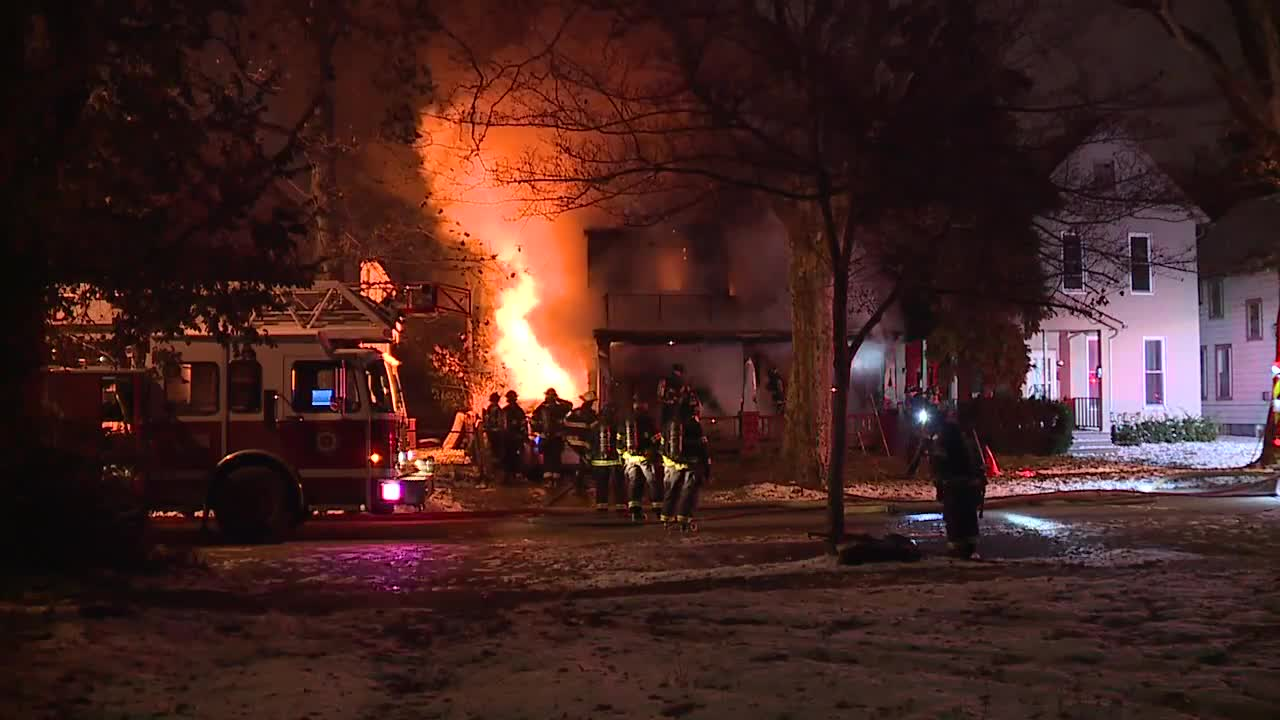 Firefighters battle fire on West 81st Street