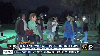 Residents, BPD Commissioner, city leaders take to streets to combat crime - Video