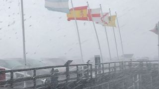 Strong Winds Blow Away Flags on Santa Barbara Waterfront - Video