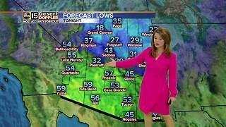 A cooler weekend ahead for the Valley