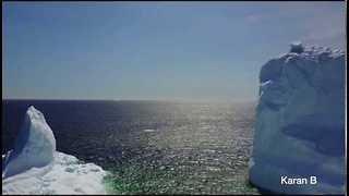 Large Iceberg is Spotted in Newfoundland - Video