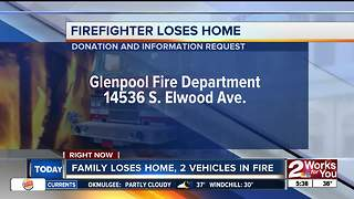 Family loses home, 2 vehicles in fire - Video