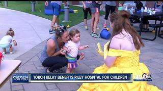 Torch relay benefits Riley Hospital for Children