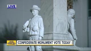 Vote  today could lead to Confederate war memorial's removal - Video