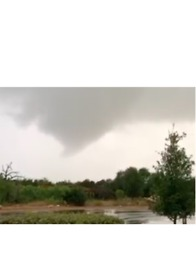 Funnel Cloud Forms North of Austin