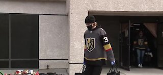 VGK distribute food to families in need