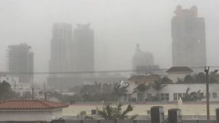 Heavy Rain and Winds Blanket Miami as Irma Makes Landfall in the Keys - Video