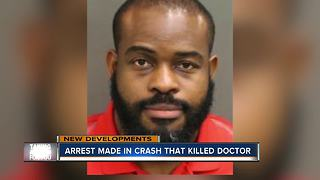 Man arrested in connection to crash that killed Moffitt cancer doctor - Video