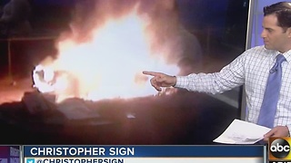 Stolen truck found burning near Loop 101 and 35th Avenue - Video