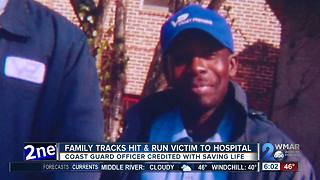 Family tracks hit & run victim to hospital - Video
