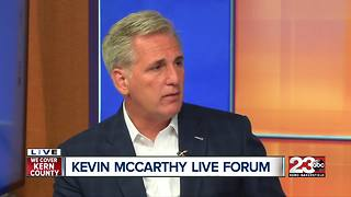 Congressman Kevin McCarthy answers your questions live during forum - Video