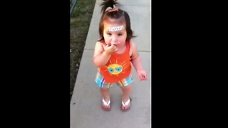 Cute Toddler Tries To Reprimand Her Mom  - Video