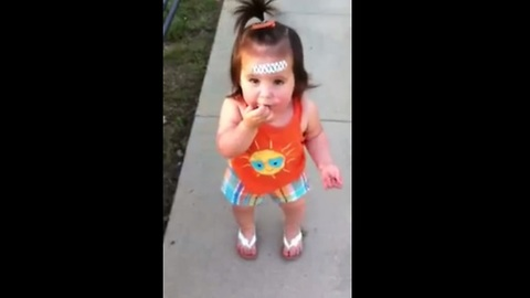 Cute Toddler Tries To Reprimand Her Mom