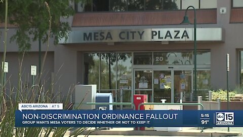 Group claims to have enough signatures to try and overturn Mesa's discrimination ordinance