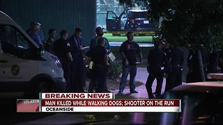Man walking dogs shot, killed at Oceanside park - Video