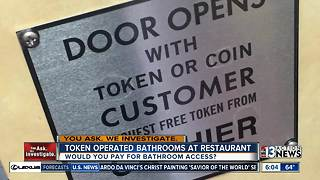 Token operated restroom causes concerns over access - Video