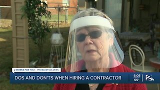 Problem Solvers: Do's and don'ts when hiring contractors