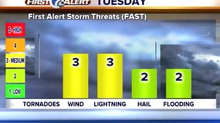Storms likely Tuesday