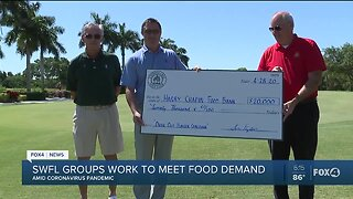 Local groups donate thousands to Southwest Florida food banks