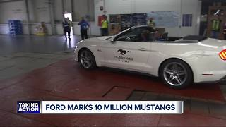 Ford celebrates its 10 millionth Mustang with a muscle car parade - Video