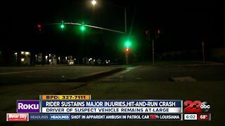 Motorcycle rider sustains major injuries in hit-and-run crash