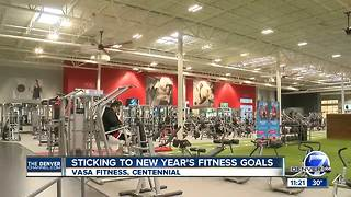 Sticking to New Year's fitness goals - Video