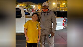 Las Vegas boy gets a big surprise for 8th birthday