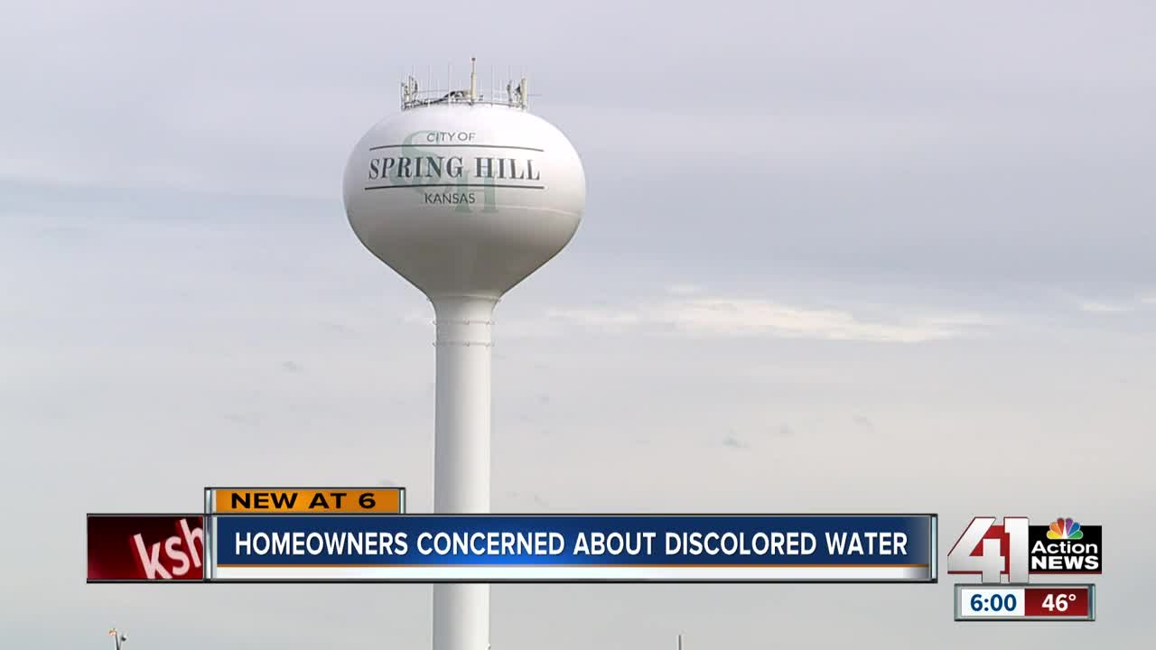 Homeowners concerned about discolored water