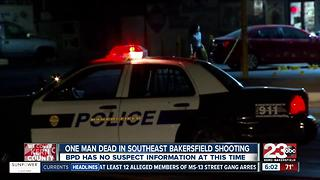 One man dead in southeast Bakersfield shooting - Video
