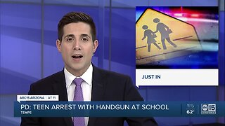 Teen arrested after bringing gun to Tempe High School