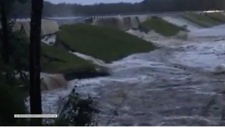 Residents Watch as North Carolina Dam Fails After Florence Rains