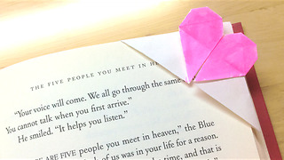 DIY heart-shaped origami bookmark - Video