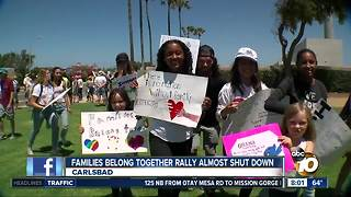 Families belong together rally almost shut down - Video