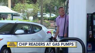 Some gas stations installing chip readers on pumps to cut down on fraud - Video