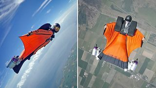 Real life Ironman flies through the sky with jet engines for boots - Video