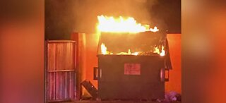 Florida fire department ends 2020 with a dumpster fire