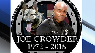 Boynton Beach Police Officer Joe Crowder, who died 1 year ago, remembered - Video
