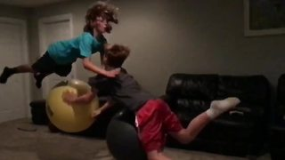 """Slow Motion Exercise Ball Challenge"""