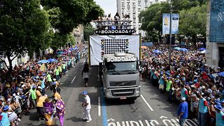 Rio's oldest street party turns 100: A million turn out to celebrate - Video