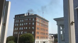 Black Smoke From Russian Consulate in San Francisco Sparks Media Frenzy - Video