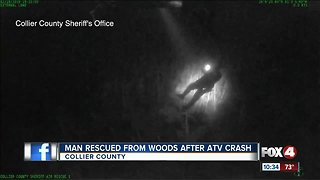 Watch: Helicopter crew rescues injured man from Everglades