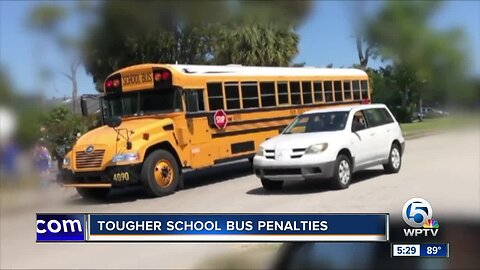 Florida bill would increase fines, penalties for drivers who illegally pass school buses