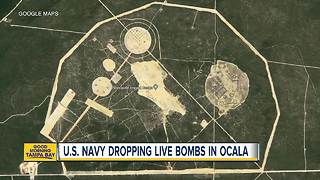 Navy dropping live bombs in Fla. national forest - Video