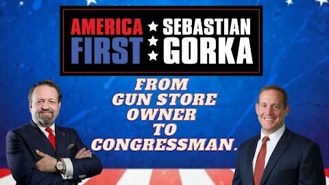 From gun store owner to congressman. Rep. Ted Budd with Sebastian Gorka on AMERICA First