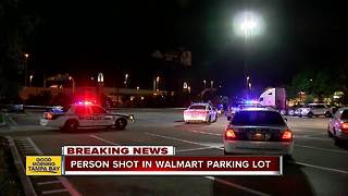 Person shot in parking lot of Tampa Walmart - Video