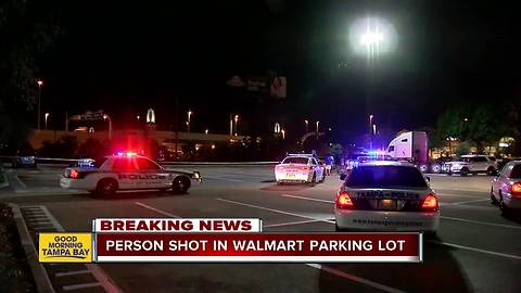 Person shot in parking lot of Tampa Walmart