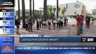 Protest in Tampa for Daunte Wright