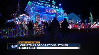 Holiday Heist: Thieves swipe holiday lights from Milwaukee home - Video