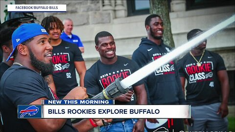 Buffalo Bills rookies find out what it's like to be a firefighter, explore city